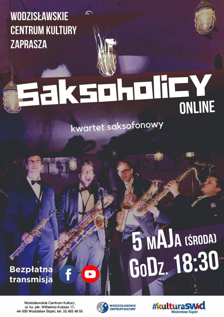 plakat - zespół Saksoholicy w WCK