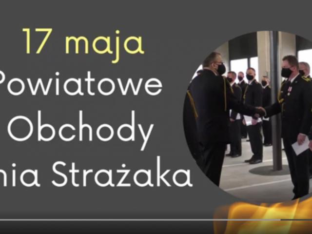 Czołówka z filmu z Powiatowych i Wojewódzkich Obchodów Dnia Strażaka w Powiecie Wodzisławskim w 2021 r.