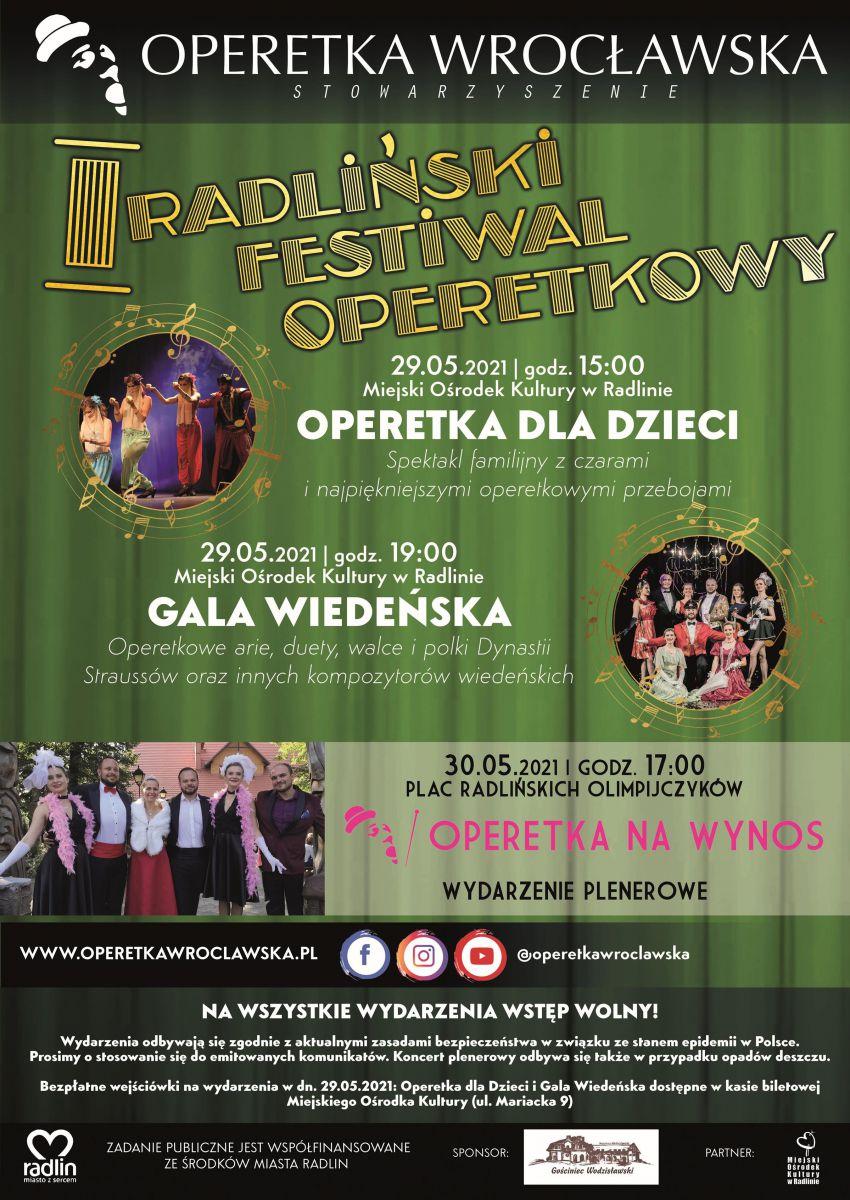 plakat - I Radliński Festiwal Operetkowy