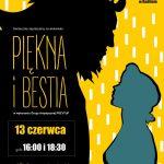 """plakat - spektakl """"Piekna i bestia"""" w MOK Radlin"""