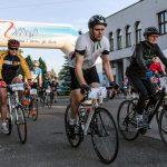 Śląski Maraton Rowerowy w Mszanie - poglądowe zdjęcie archiwalne, na zdjęciu peleton rowerzystów
