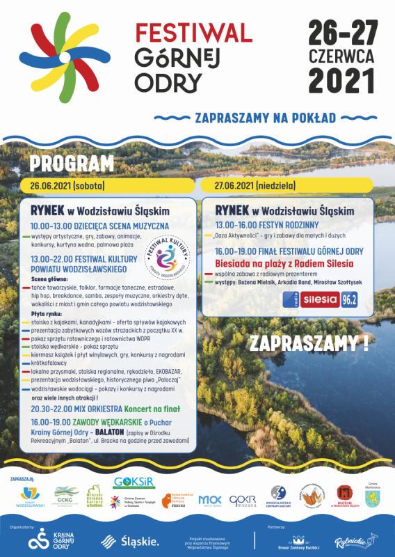 Festiwal Górnej Odry plakat na stronę. Zawartość została opisana w treści posta