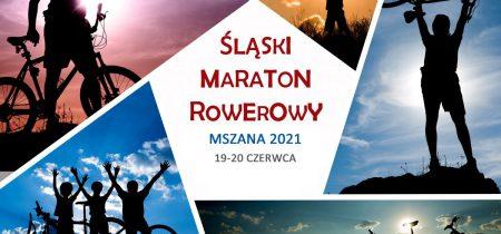 Śląski Maraton Rowerowy Mszana - grafika okolicznościowa ze zdjęciami rowerzystów