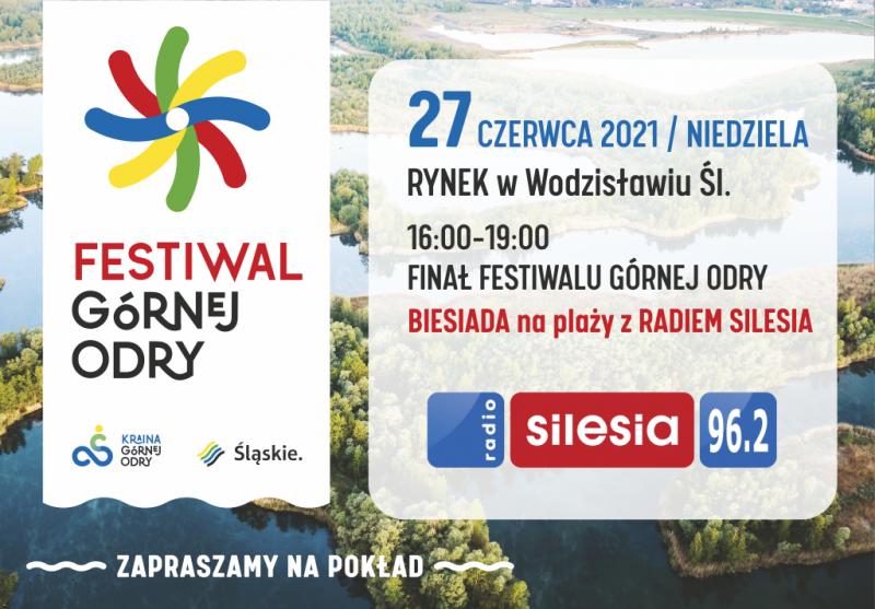 Festiwal Górnej Odry grafika promująca Biesiadę z Radio Silesia