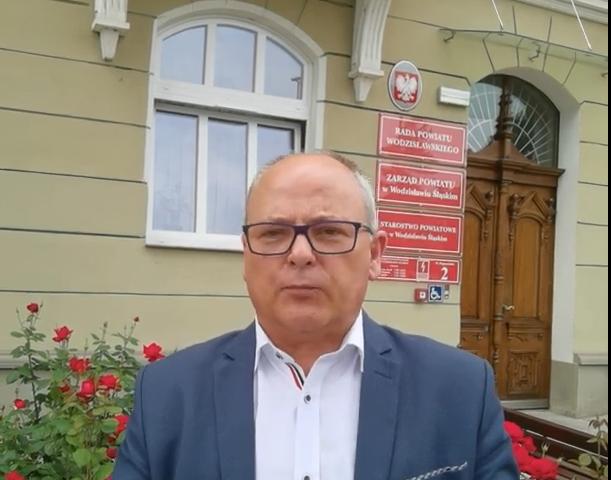 czołówka materiału wideo w której starosta Leszek Bizoń zaprasza na Festiwal Górnej Odry