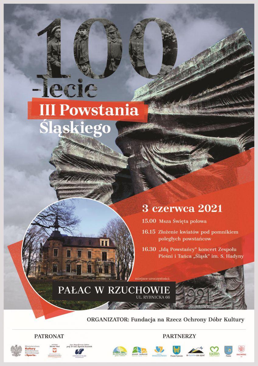 plakat - obchody III Powstania Ślaskiego w Rzuchowie, ul Rybnicka 66