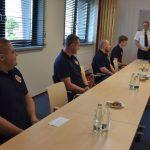 Spotkanie w PSP z drużyną OSP Pszów