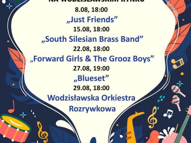 plakat - koncert na rynku w Wodzisławiu Śląskim