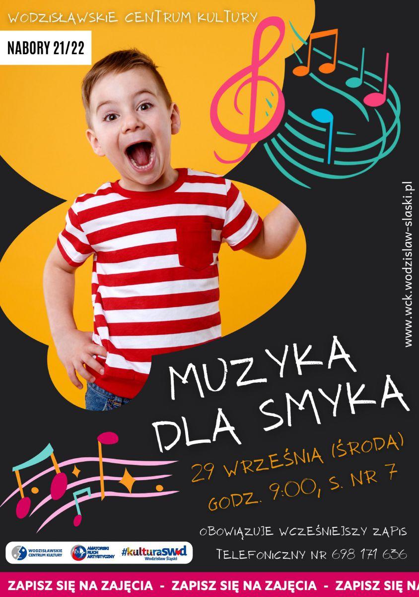 plakat - nabór na zajęcia muzyczne z dziećmi w WCK