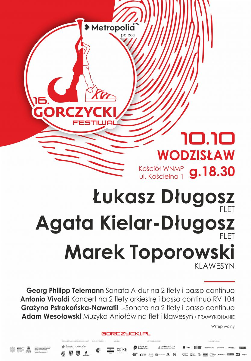 plakat - Międzynarodowy Festiwal g. g. Gorczyckiego w Wodzisławiu Śląskim