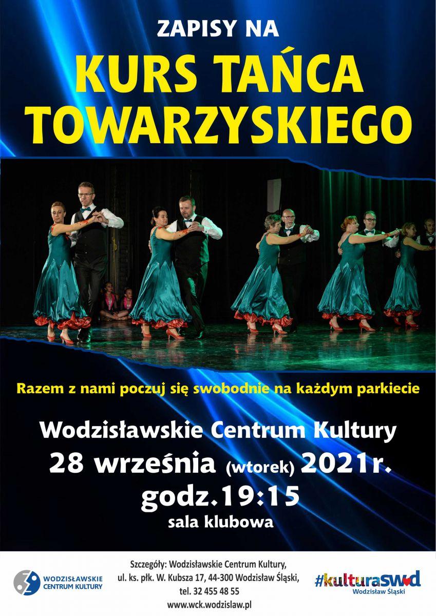 plakat - nabór na kurs tanca towarzyskiego w WCK