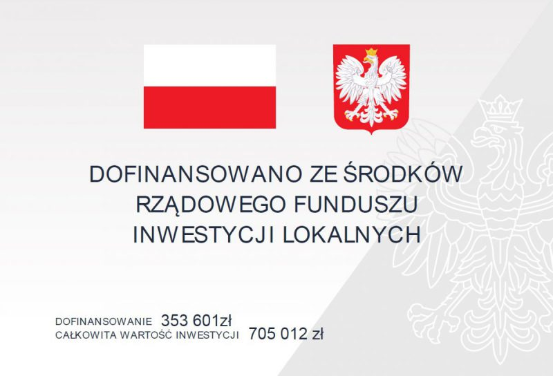 Tablica informacyjna dot. inwestycji na ul. Grodzisko w Wodzisławiu Śl.