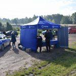 akcja Road Safety Days w Wodzisławiu Śl. 21 wrzesnia 2021, na zdjęciu stanowisko do ćwiczeń pierwszej pomocy