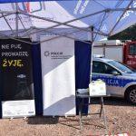 akcja Road Safety Days w Wodzisławiu Śl. 21 wrzesnia 2021 na zdjęciu ogólny widok stanowiska