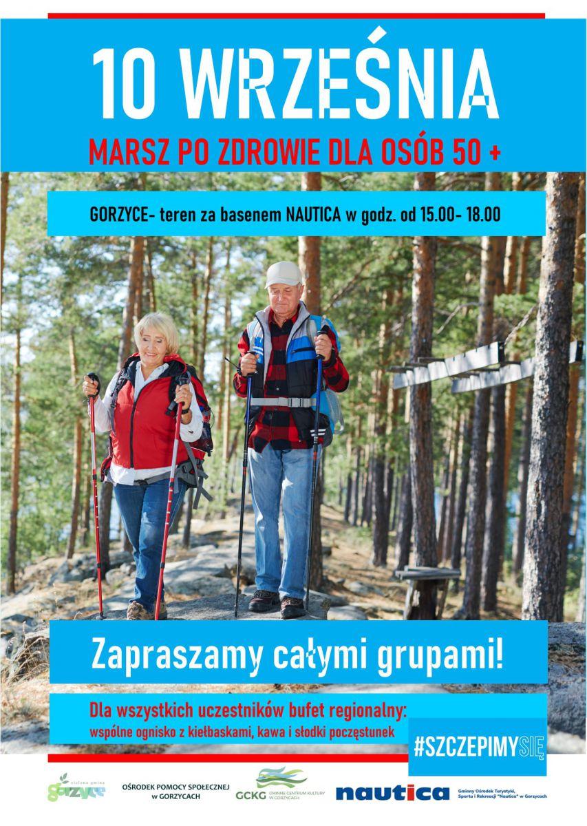 plakat - marsz po zdrowie dla osób 50+