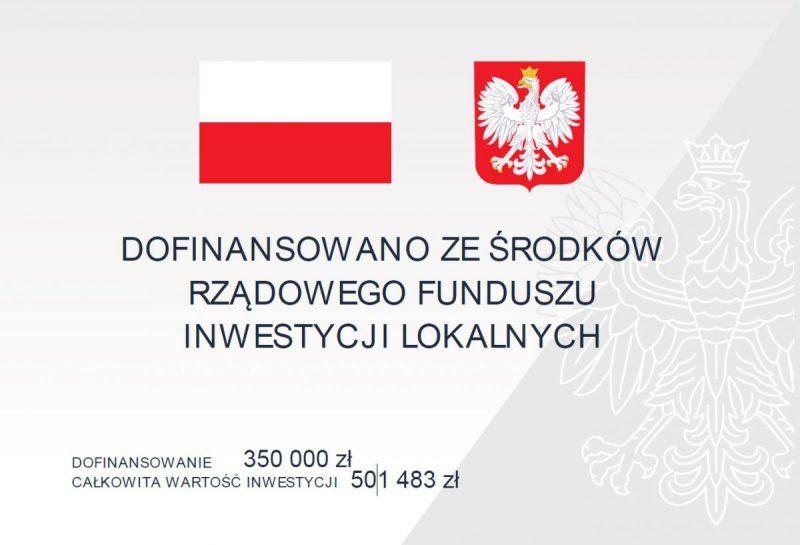 tablica informacyjna dot. inwestycji na ul. Kraszewskieo w Pszowie
