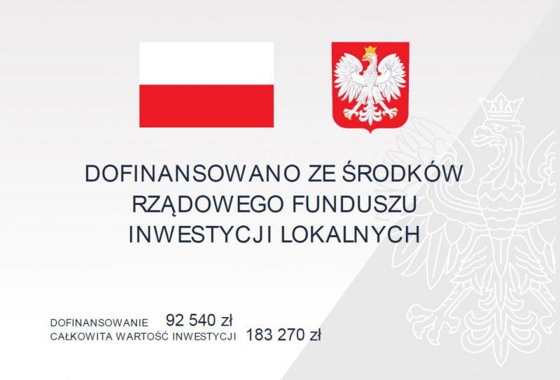 tablica informacyjna dot. inwestycji na ul. Rydułtowskiej w Radlinie