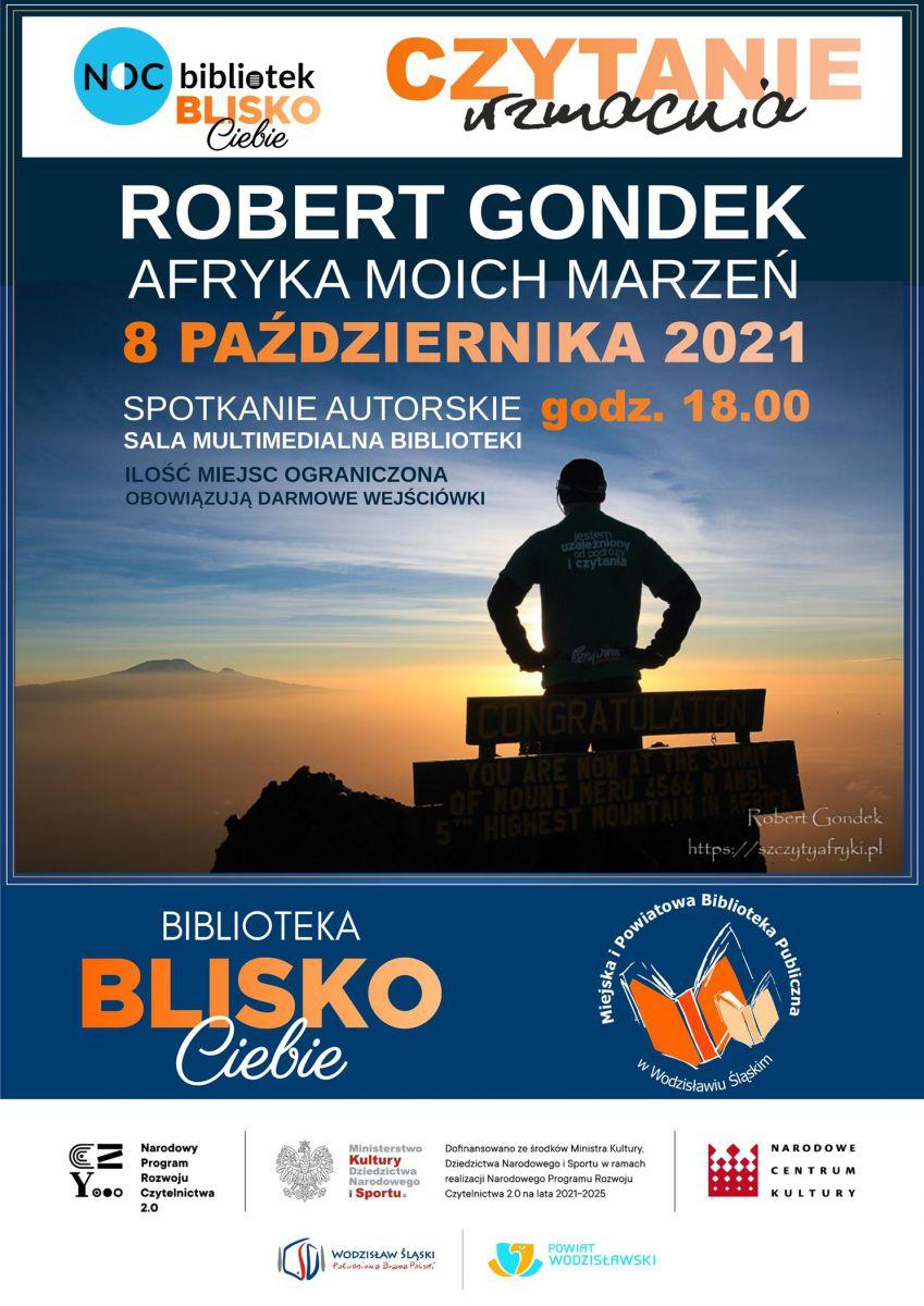 plakat - spotkanie autorskie z Robertem Gondkiem