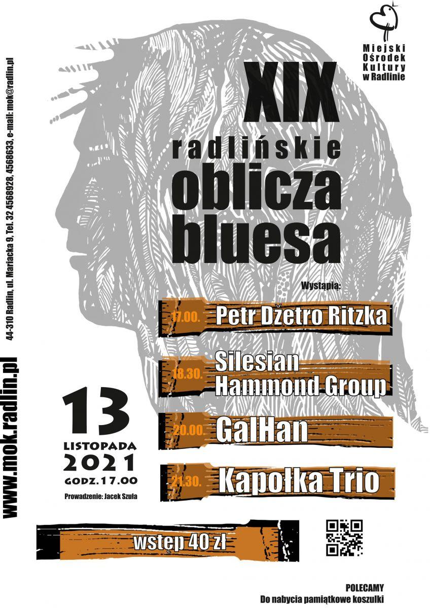 plakat - XIX Radlińskie Oblicza Bluesa w MOK Radlin