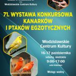 plakat - wystawa kanarków i ptaków egzotycznych w WCK