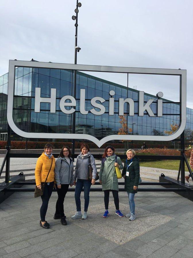 Wizyta nauczycielek Ekonomika w Wodzisławiu Śl. w Helsinkach na kursie metodycznym. Na zdjęciu uczestnicy spotkania (4)