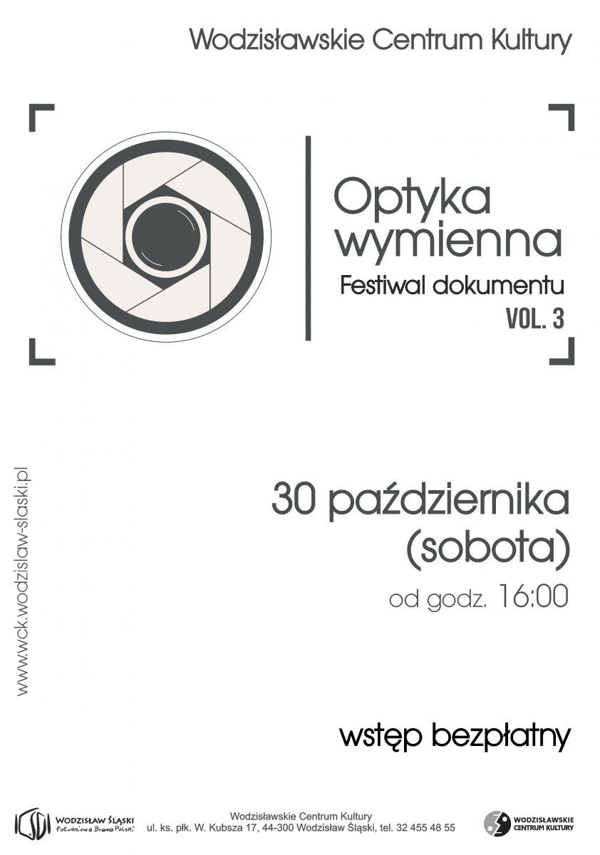 plakat - festiwal dokumentu w WCK