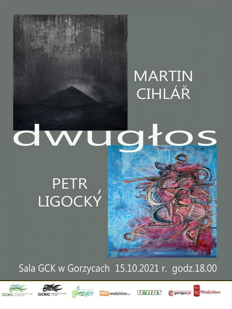 """plakat - """"Dwugłos"""" wystawa w Gorzycach"""